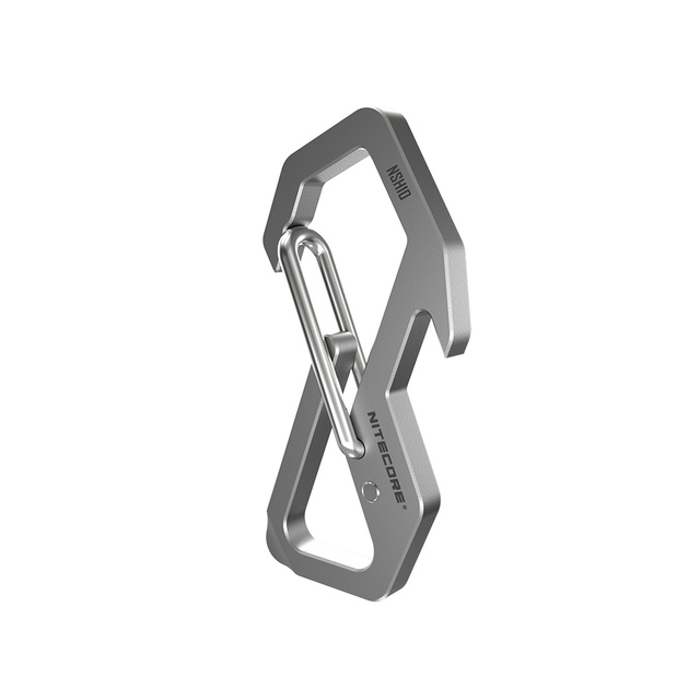 NITECORE NSH10 Multiuse Titanium Snap Hook Anti corrosion Ultra Lightweight Hanging Tool  45 degress Elastic Spring Gate