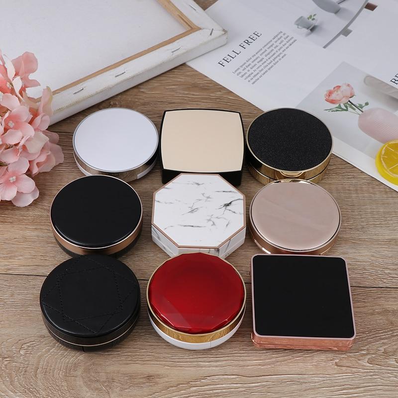1set Empty Air Cushion Puff Box CC Cream Container Dressing Case Sponge Mirror Mutli-type To Choose