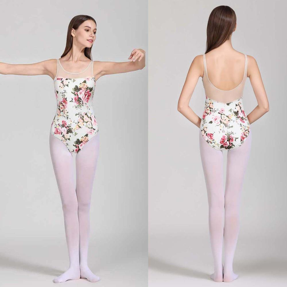 Women Ballet Dance Leotard Vest 2020 New Design Printing Ballet Gymnastics Adult High Quality Dancing Practice Leotard Bodysuit