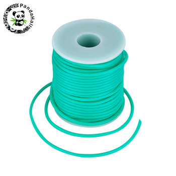 2mm 3mm 4mm 5mm Hollow Pipe PVC Tubular Rubber Cord for Jewelry Making DIY 15 Colors hole:1.5mm; about 50m/25m/15m/10m/roll