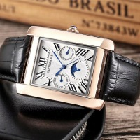 High Quality Cartierable Men Watch Luxury Leather Strap/ Stainless Steel Strap Quartz Man Wristwatch Top Brand Watch For Man