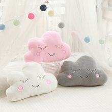 Ins Cloud Moon Star Raindrop Plush Pillow Soft Cushion Childrens Room Decoration Home Decor Gift