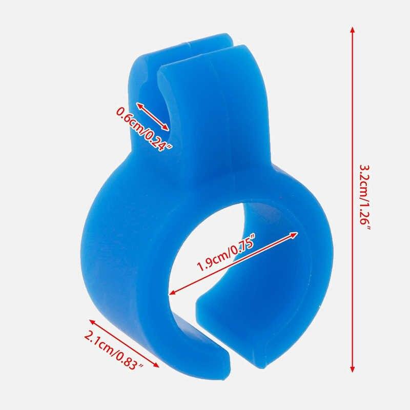 الجملة مقاوم للماء قطعة أثرية لا نهاية لها 1 قطعة خاتم سيليكون إصبع اليد رف حامل سيجار للتدخين العادية المدخن الرجال هدية