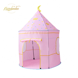 NICROLANDEE Kid Tent House Space Themed Pretend Castle Baby Tent Indoor Outdoor Foldable Playhouse Tent for Boys and Girls
