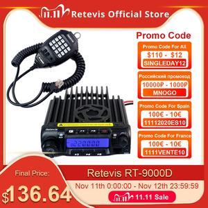 Image 1 - Retevis RT 9000D Mobile Car Radio Transceiver VHF 66 88MHz (or UHF) 60W 200CH Scrambler Walkie Talkie+Speaker MIC+Program Cable