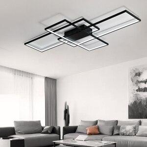 Image 2 - NEO Gleam New Arrival Black/White LED Ceiling Chandelier For Living Study Room Bedroom Aluminum Modern Led Ceiling Chandelier