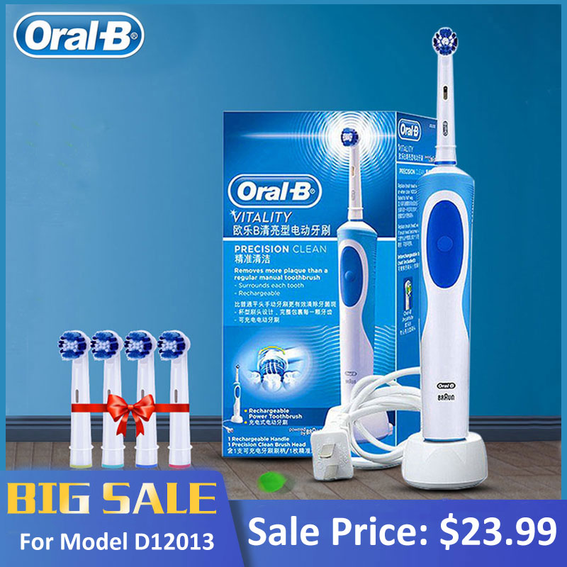 Promotion Original Oral B Electric Toothbrush D12 Series Vitality Rotate Type Electric Teeth Brush Precision Cleaning Whitening image