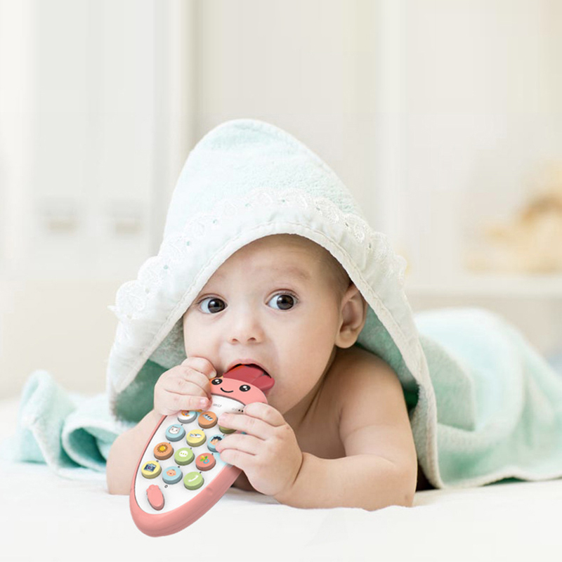 Electronic Toy Cartoon Phone Kids Mobile Phone Cellphone Telephone Educational Learning Toys Music Toy Baby Infant Teether Phone