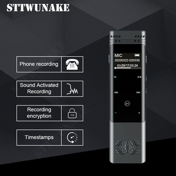 STTWUNAKE Dictaphone voice recorder mini audio mp3 player professional digital recording record HD OTG connection activated