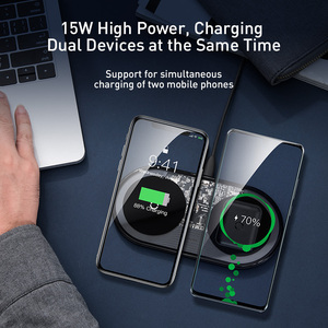 Image 2 - Baseus גלוי צ י אלחוטי מטען 15W עבור Huawei P30 פרו כפול אלחוטי טעינת סט עבור iPhone 11 Pro מקסימום xs Xr X 8 בתוספת AirPods