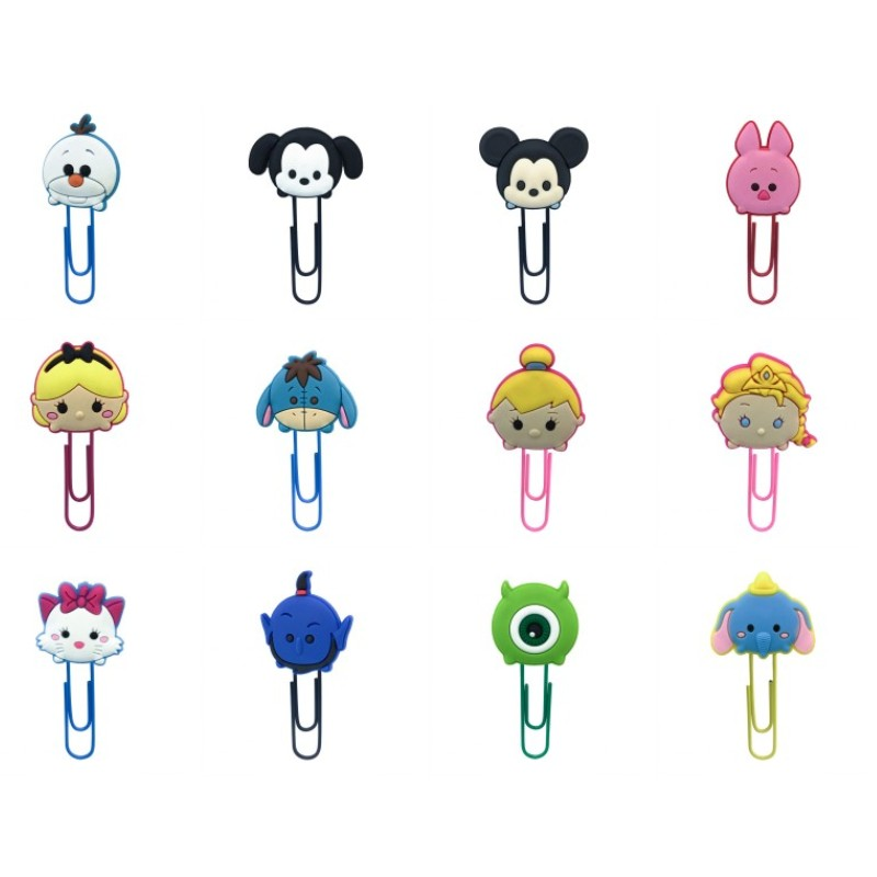 25pcs Hot PVC Bookmarks For Kids Donkey Paper Clips Page Holder For Teachers Students School Office Stationery Kids Gift
