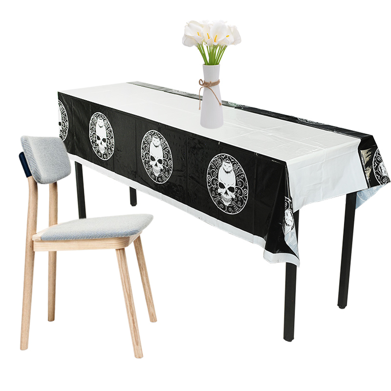 1pc 110 180cm Plastic Disposable Tablecloth Halloween Party Decor Table Cover Rectangle Desk Cloth Wipe Covers Home Table Decor in Disposable Party Tableware from Home Garden