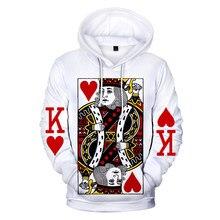 Hoodies de poker dos homens/moda feminina harajuku inverno manga longa impressão 3d poker streetwear masculino oversized moletom com capuz