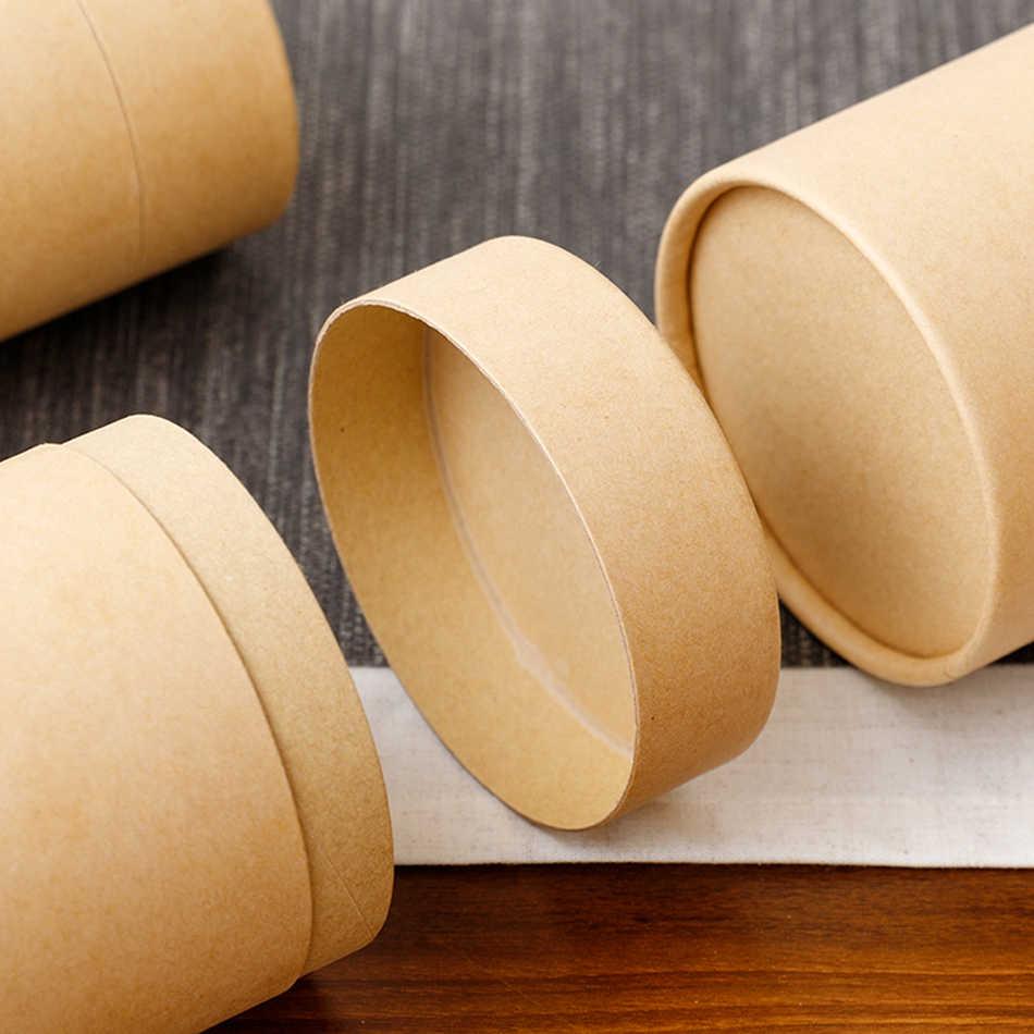 Stern Verpackung Tee Kanister Verpackung Karton Box Cmyk Druck Rollrand Papier Zylinder Rohr