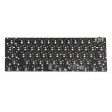 Melgeek mj61mj63 mj64 qmk rgb 60% gh60 quente swappable personalizado teclado mecânico pcb programado qmk firmware tipo c porto