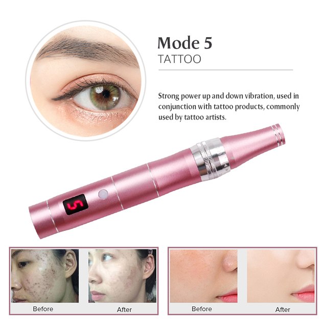Electric Dr.Pen Nano-electric Crystallite Permanente Microblading Tattoo Makeup Machine Eyebrows Eyeliner Lip Micro Needling Pen 1