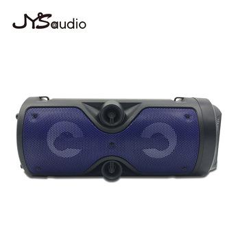 Outdoor Wireless Bluetooth Speaker Portable audio Column Subwoofer Stereo 1200mAh Battery Support FM Radio TF AUX USB 4