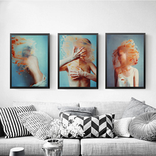 Nordic Style Canvas Painting Abstract Girl Pictures Hd Prints Home Wall Art Modular Minimalist Figure Poster For Kids Room Decor