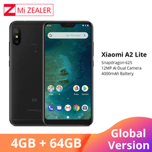 "International Version Xiaomi Mi A2 Lite Mobile Phone 4GB 64GB 5.84"" Full Screen Snapdragon 625 Octa Core AI Camera Smartphone"