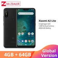 """Wersja międzynarodowa Xiao mi mi A2 Lite telefon komórkowy 4GB 64GB 5.84 """"pełny ekran Snapdragon 625 octa core AI Camera Smartphone"""