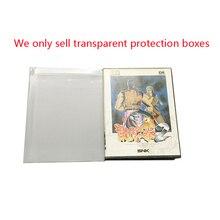 Şeffaf oyun koleksiyonu saklama kutusu için S N K ev oyun konsolu için NEO GEO aes plastik kasa PET koruyucu ekran kutusu