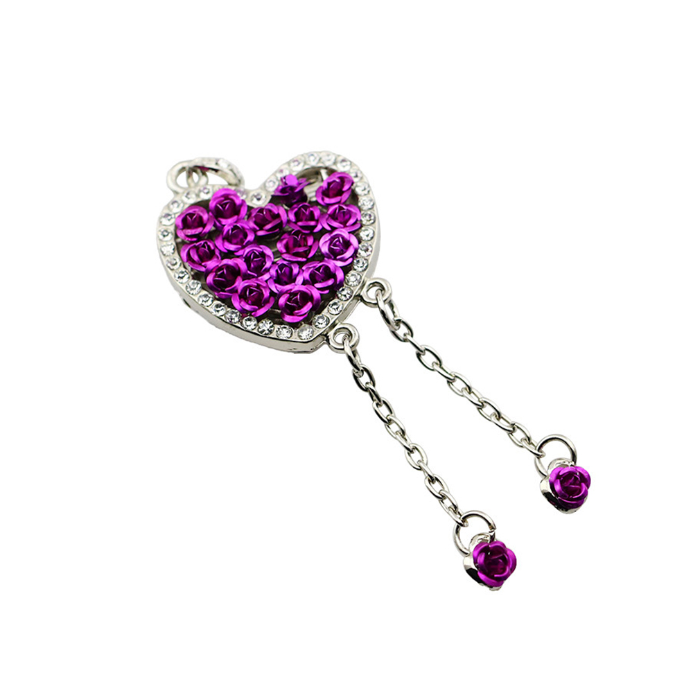 JASTER® Diamond Love Heart USB Flash Drive Crystal Fashion Lovers Gift Pendrive