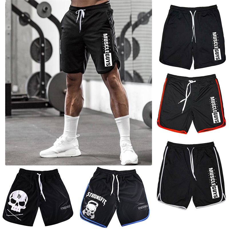 Summer Hot Mens Gym Shorts Running Jogging Sports Fitness Bodybuilding Sweatpants Male Workout Training Knee Length Short Pants