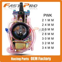 Universal Motorcycle Colorful Carburetor PWK 21 24 26 28 30 32 34 MM PWK21 For Keihin With Power Jet For Racing Moto Dirt Bike