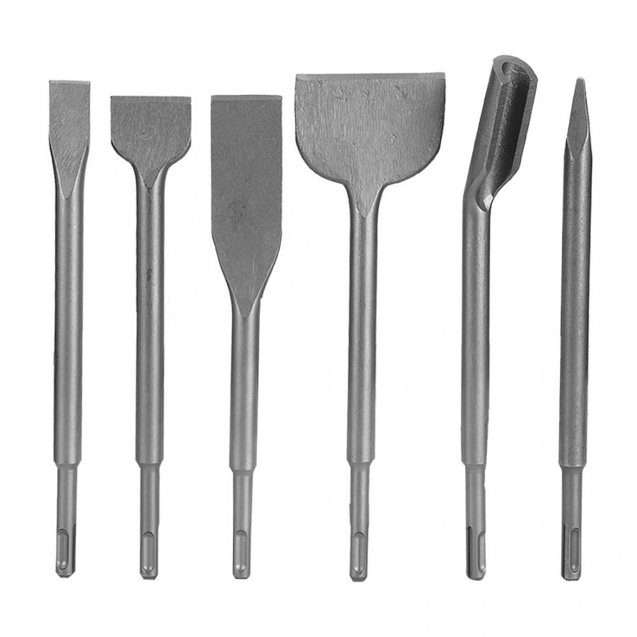 6pcs Rotatory Hammer SDS Plus Drill Chisel Set Concrete Wall Drilling Tool Concrete Tools Hammer Drill Chisel
