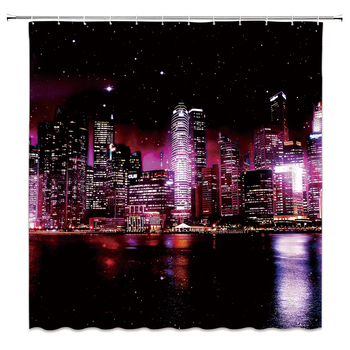 Galaxy Night Starry Sky Bath Curtain Large Size 240x180 Bathroom Shower Curtain Waterproof Polyester Fabric Shower Curtains image
