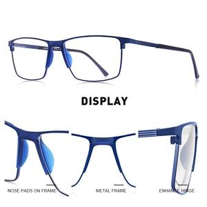 Image 2 - MERRYS Дизайнерские мужские очки из титанового сплава , оправа в деловом стиле , Мужские квадратные ультралегкие очки для близорукости, очки по рецепту S2170