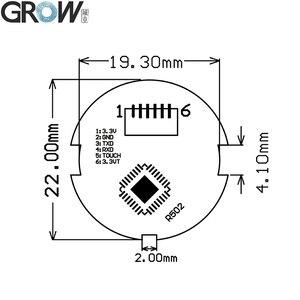 Image 5 - לגדול K216 + R502 A קטן דק עגול טבעת LED קיבולי טביעות אצבע בקרת גישה לוח