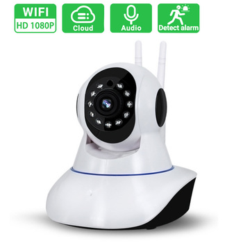 Dual antenna 1080P Wireless IP Camera 2MP Dome Indoor Way Audio CCTV WiFi Camera Baby Monitor Video Security Surveillance 1080p 2mp wireless indoor wifi surveillance camera two way audio cctv security ip camera home dome baby monitor support sd card