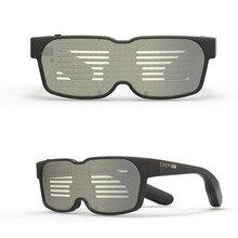 Новые смарт-очки Bluetooth светодиодный динамический светящийся светильник солнцезащитные очки для ночной рождественской вечеринки мигающие очки