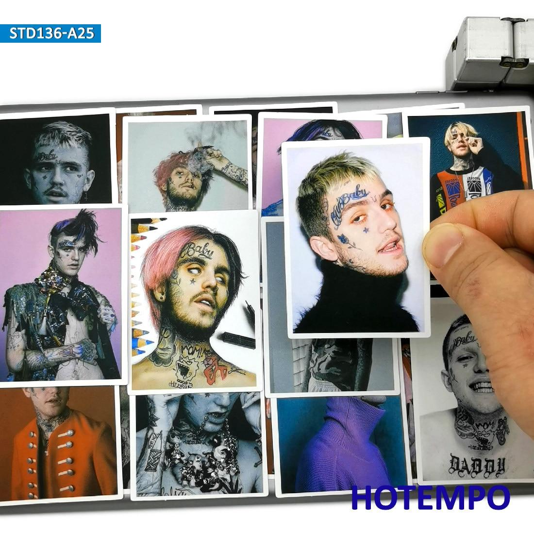 25 шт. США Рэппер звезда Lil Bo Peep постер Стиль Мода художника наклейка s для мобильного телефона ноутбука чемодан скейтборд наклейка|Наклейки|   | АлиЭкспресс