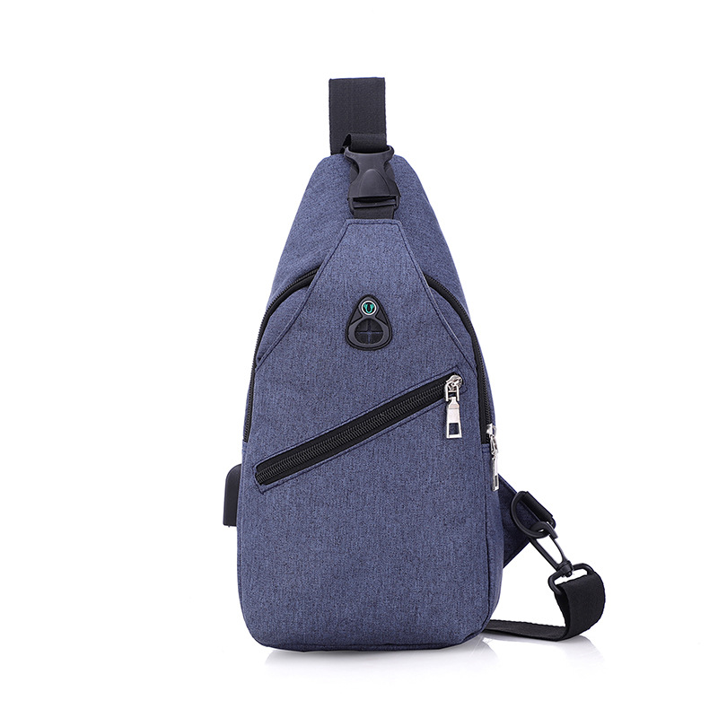 New Style USB Men Chest Pack Multi-functional Anti-Spillage Chest Bag Shoulder Bag Shoulder Bag Fashion