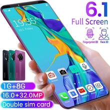 6.1 Inch Smartphone for Mate33 Pro Big Screen Android 9.1 Smartphone Hd Display 8 Cores 4500mAh 1GB+8GB Hd Camera Mobile Phone doogee x9 1gb 8gb smartphone black