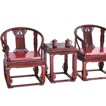 Solid Wood Chair Chinese Style Ming Qing Retro Rosewood-like Classical Antique Reproduction Furniture Armchair Palace Chair