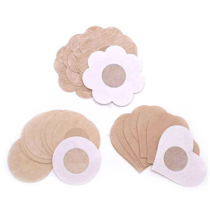 Bộ 3 đôi Tất Nữ Dùng Một Lần Núm Vú Có Gợi Cảm Vô Hình Không Thể Hiện Ngực Pasties Dính Áo Ngực Không Dệt Ngực Dán Phụ Kiện