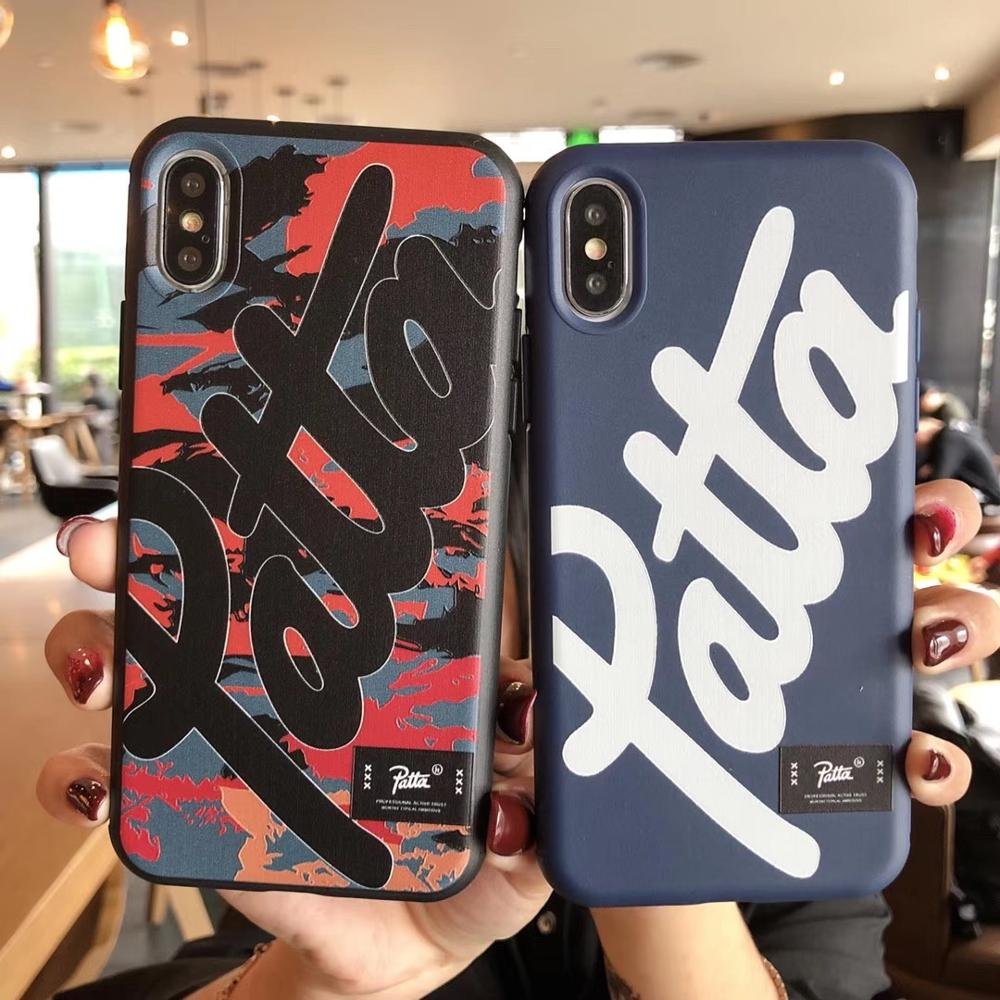 Cute Soft Silicone Patta Case for Apple iPhone 11 Pro XS MAX XR 8 7 Plus 6s 7Plus Coque Logo Phone Cover for iPhone XR iPhoneX(China)