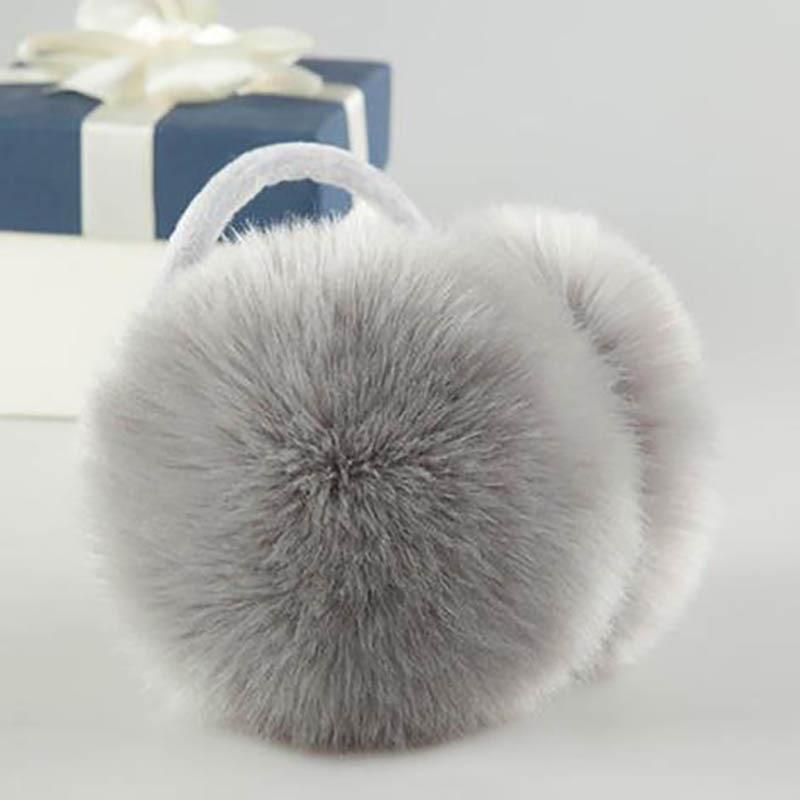 Calymel Women Men Winter Plush Ear Warmers Earmuffs Earlap Headband Warm Faux Fur Earmuff  Ear Protector Xmas Gifts