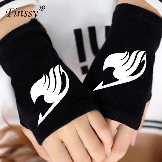 Mode Vingerloze Handschoenen Anime Naruto Fairy Tail Tokyo Ghoul Aanval Op Titans Cosplay Warme Handschoenen