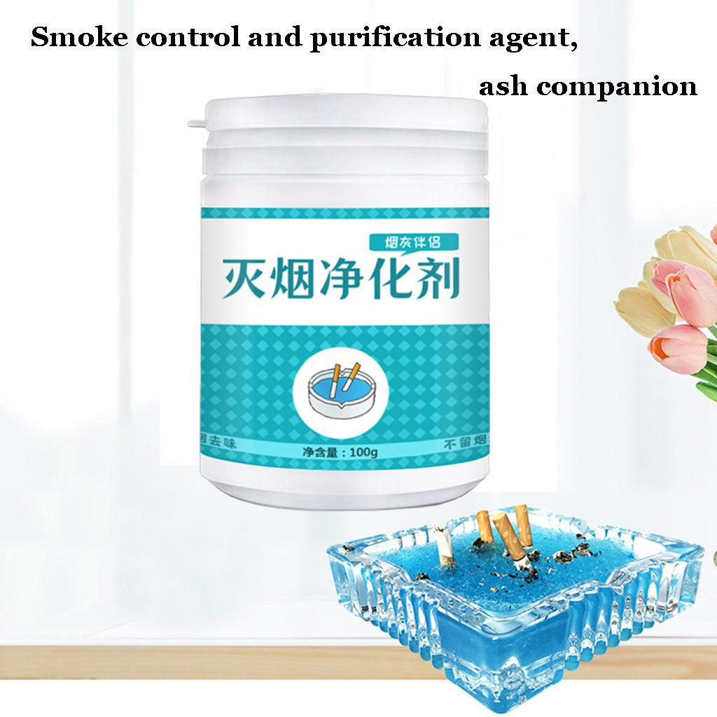 Air Cleaner Powder Ashtray Magic Dust Cleaner Slimy Gel For Indoor Remove Smoke Odor Air Fragrance Reject Secondhand Smoke #Y5