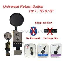 10 sztuk 3rd Gen Design uniwersalny przycisk Home Flex Cable dla IPhone 7 8 7 Plus 8 Plus klawiatura Menu przywrócić zwykłą funkcję powrotu