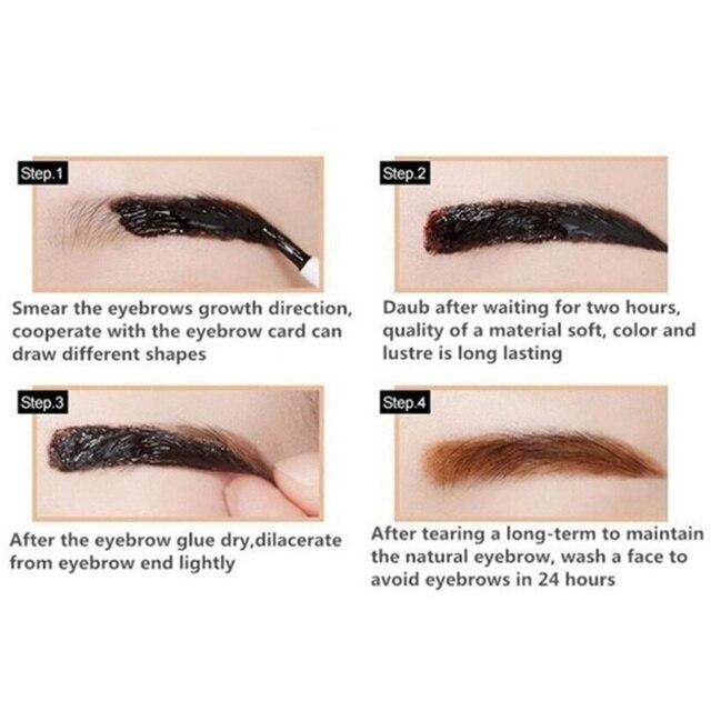 Peel off Eyebrow Enhancer - Dye Cream Eyebrow Tint and Tattoo Gel 5