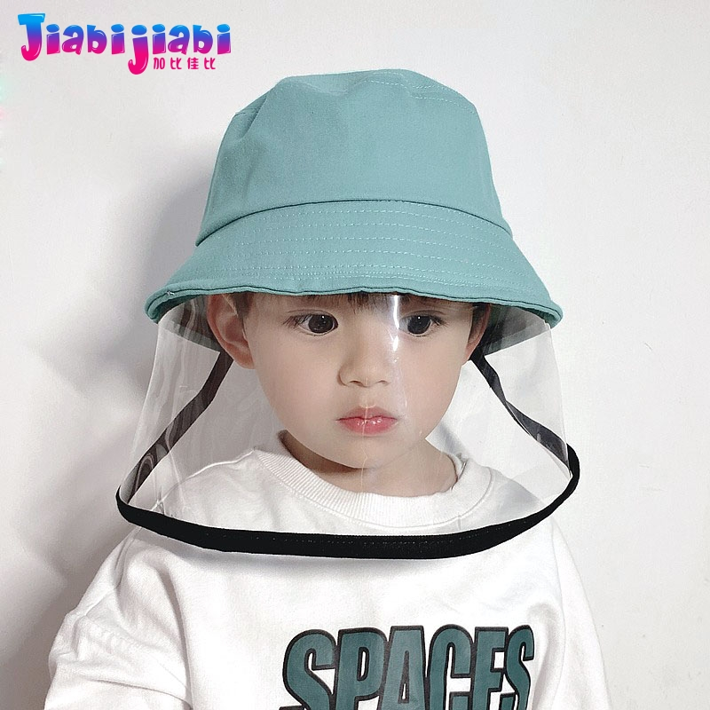 Kids Protective Epidemic Bucket Hat Baby Children Sunshade Hat Boys Girls Toddler Isolation Drool-Proof Sun Basin Hat 1-8 Old