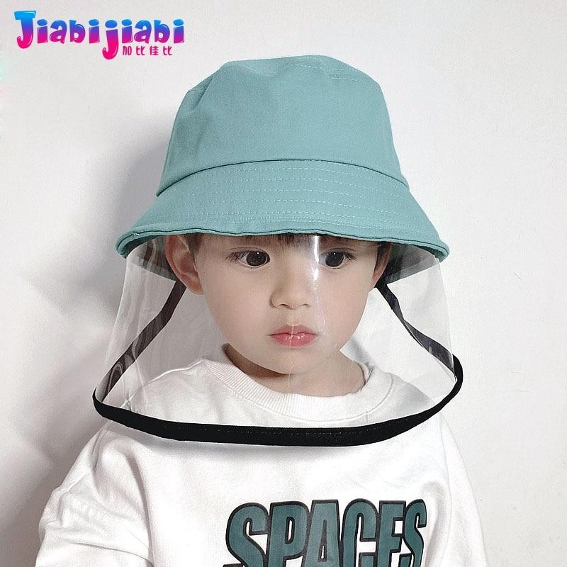 Kids Protective Epidemic Bucket Hat Baby Children Sunshade Hat Boys Girls Toddler Isolation Drool-Proof Sun Basin Hat 1-8 Old