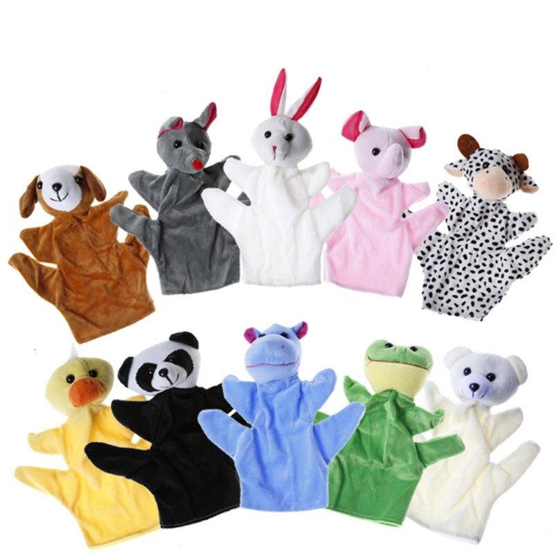 10pc cartoon dier fluwelen finger puppet finger speelgoed vinger pop baby doek onderwijs handgemaakte baby speelgoed baby gift bebe reborn 2