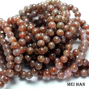 Image 2 - Wholesale ( 1 bracelet) Natural  8 8.8 mm genuine rare Auralite 23 quartz smooth round bracelet beads for jewelry making