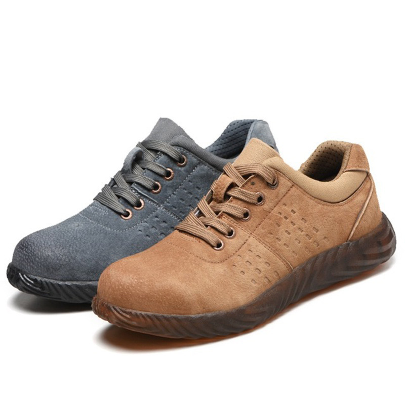 Place Of Origin Supply Of Goods New Style Rubber Sole Safety Shoes Anti-smashing And Anti-penetration Foot Protective Shoes Brea